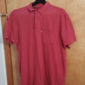 Levi Size L Men's Red Polo